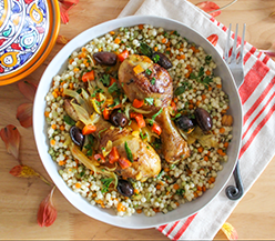 Healthy Moroccan Chicken & Apricot Tagine